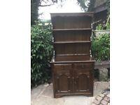 Vintage carved shabby chic Welsh dresser