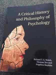 A Critical History of Philosophy and Psychology