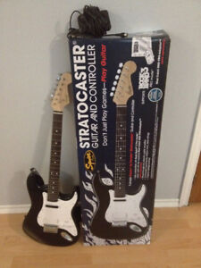 Fender-Pro Sound Squier Stratocaster Rock Band 3 Guitar and Cont