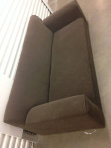 CB2 COUCH - Chocolate Brown Sofa - $500