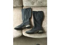 Ladies Black leather Boots size 5.5