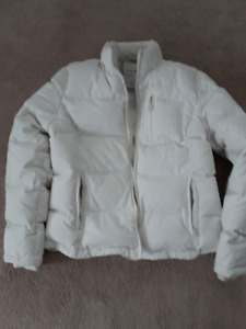 SPRING JACKET WOMEN'S AEROPOSTALE PUFFER  CREAM COLOR SZ LG