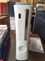 Xbox 360 with 2 white controler