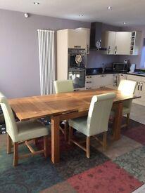 """Oak Extending Dining Table 4ft 7"""""""