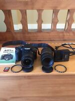 Canon T2i, 18-55mm and 75-300mm