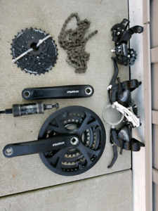Shimano tourney 3x8 gearset  complete