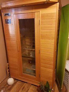 Excellent Sauna to relax and enjoy!   2 person size  4'x4'