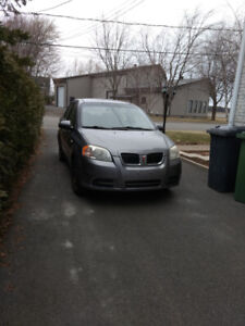 2007 Pontiac Wave gris Berline