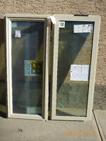 Two - New Gienow Fixed Pane Energy Star Windows 1.5m W x 0.59m H