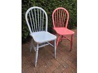 Shabby chic chairs X 2