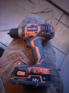Rigid 18v Drill Tool and Battery only