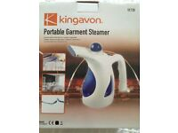 Potable garment steamer with accessories