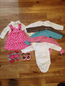 Baby girl 6/9 month winter clothing lot $10 OBO