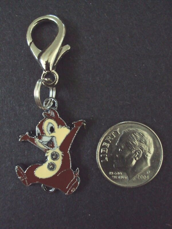 New Disney Chip The Chipmunk Enamel Charm Zipper Pull Cartoo