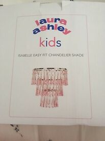 Laura Ashley pink Isabelle chandelier shade