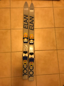 Kids skis with bindings size 100cm