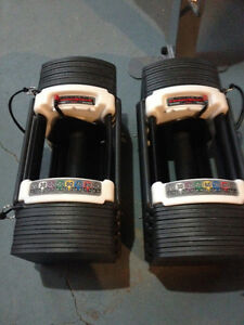 Powerblock weights with bench