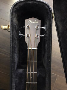 Fender 4 String Acoustic Bass with Pick Ups and Hard Case $400