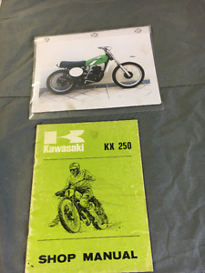 1974 KAWASAKI KX250 AND 1974 HONDA CR250M