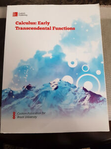 Calculus: Early Transcendental Functions Textbook