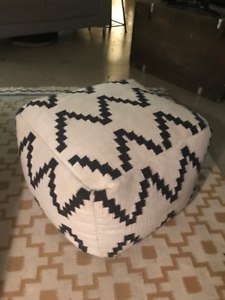 White and Black Ottoman for sale!
