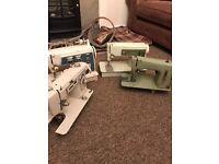 4x Vintage Sewing Machine singer jones retro shabby chic stage props