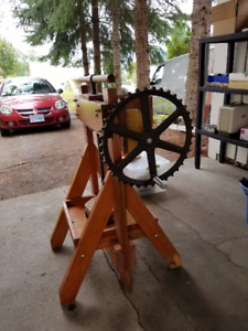 Large wood Fruit press..make your own juice or wine