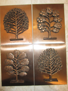 Mid Century Modern Coppercraft Guild Wall Plaques