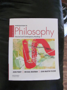 Introduction To Philosophy Perry Bratman & Fischer