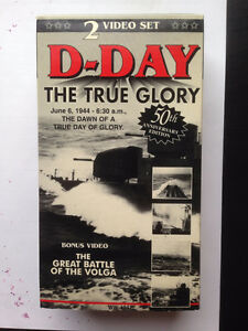 Reduced ! D-Day The True Glory - 2 VHS tapes