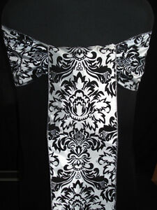 25 x Damask Chair sashes and 25 x Table Runners Cambridge Kitchener Area image 2