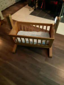 Real wood bassinet/rocker