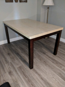 Faux Marble Table Top Dining Table