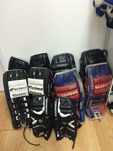 Men and youth hockey goalie pads
