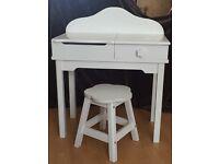 Children's Dressing Table/Desk and Stool