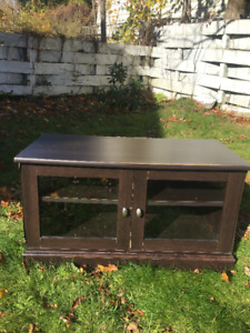 TV Console with glass front - Priced to Sell