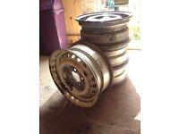 4x VW T2 Steel Wheels