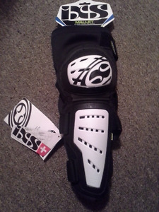 IXS Knee-Shin Pads - Color White - NEW- Never worn