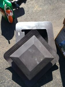 Two brown roof vents $6 each