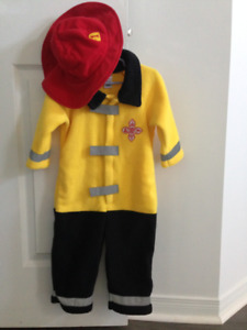 Halloween toddler costume, firefighter (18-24m)