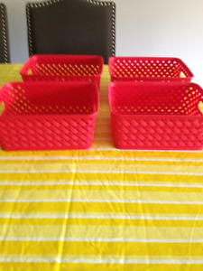 3 Sets of Red Baskets