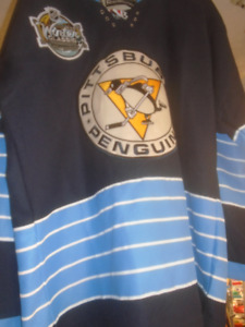 PITTSBURGH PENGUINS SIZE 48 JERSEYS ANNUAL McMASTER FUNdraiser
