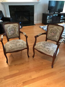 2 Queen Elizabeth style chairs for sale