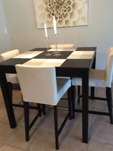 Pub style dining table and chairs