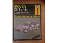 Haynes Rover 214 and 414 Manual 1397cc