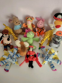 13 Small Vintage Disney Soft Toys in clean condition! Can be viewed!!