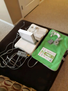 Wii console plus Wii fit plus