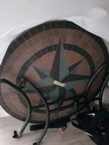 Granite patio table