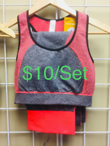 $10/Set Yoga shirt & pant Leggings Workout running