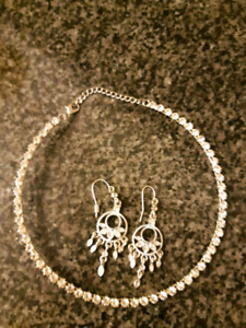 Necklace and earrings (great for prom or grad)
